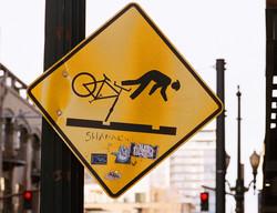 Falling Cyclist