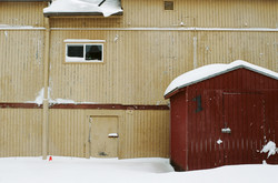 Snowy Red Shed