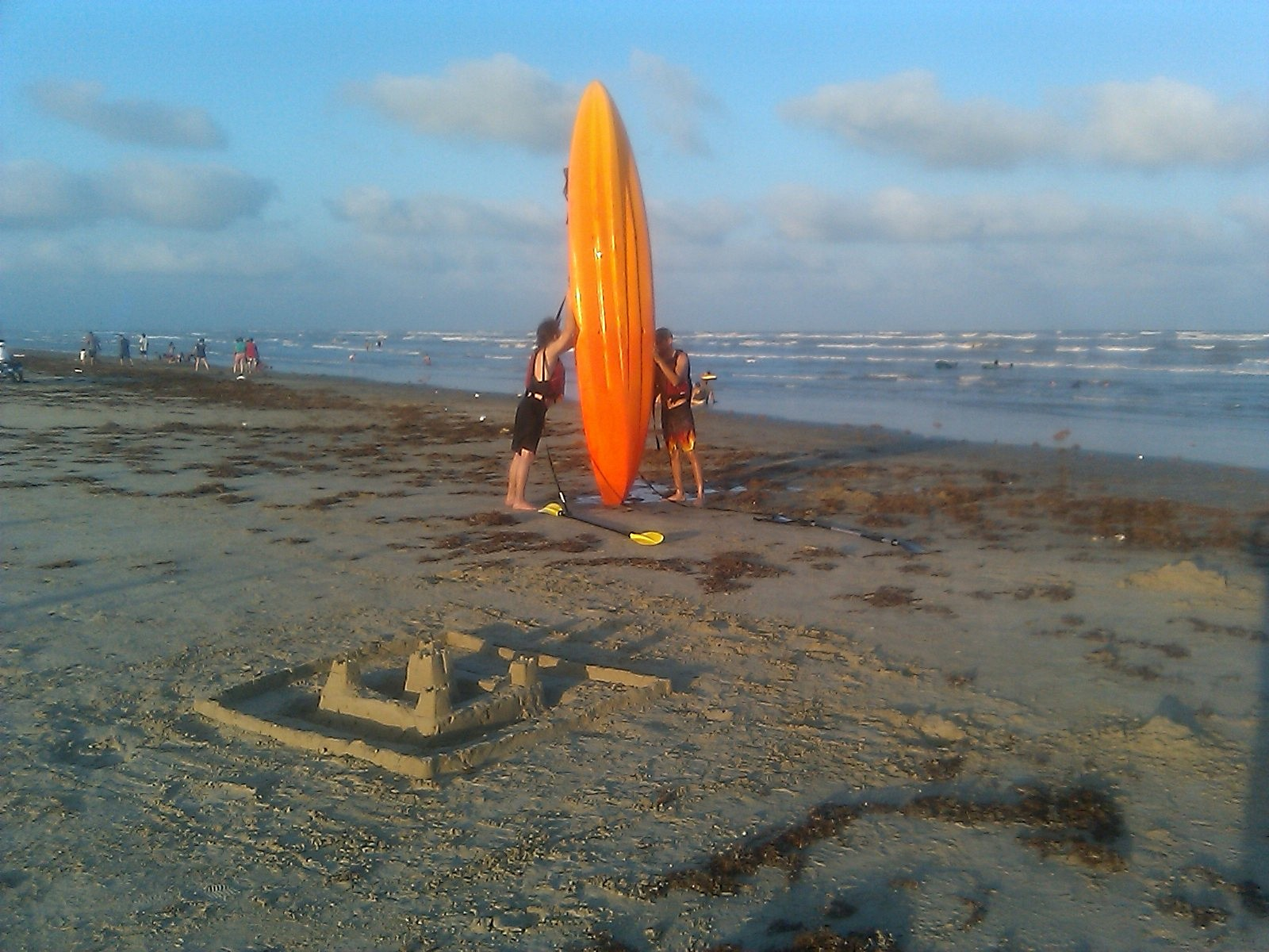 Sand Castle and Sea Kayak, Surfside