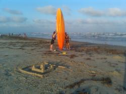 Sand Castle and Sea Kayak, Surfside