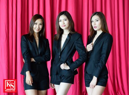 14 位亞洲小姐拍攝台上造型照