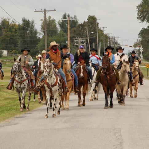 Morning Ride - Riders near ranch.jpg