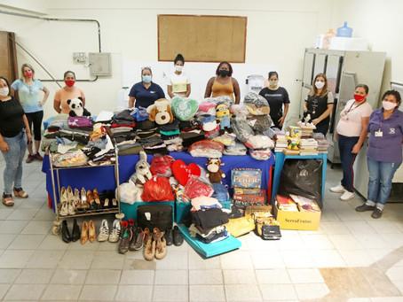 Lojas Solidárias distribuem itens para entidades sociais