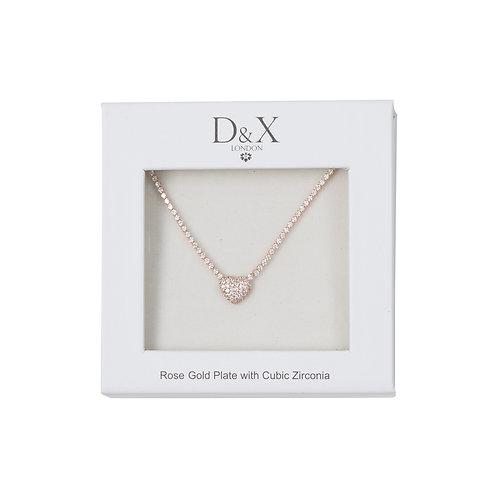 【D&X】DG0031C(ネックレス/ローズゴールド)