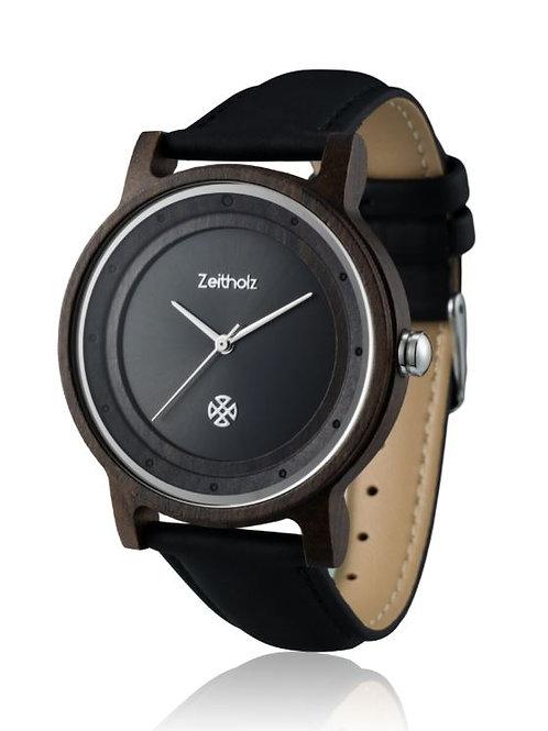 【Zeitholz】zei-0303(時計/ブラック×ブラック)  Unisex
