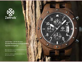 【期間限定販売】ドイツの木製腕時計 Zeitholz のレアな店頭限定モデルがここで買える!