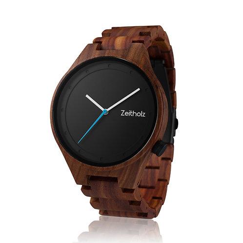 【Zeitholz】zei-0031(時計/ブラック×ブラウン) Unisex