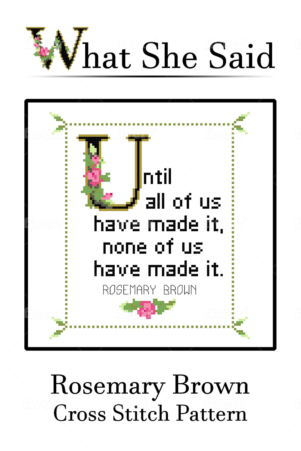 Rosemary Brown Quote Cross Stitch Chart