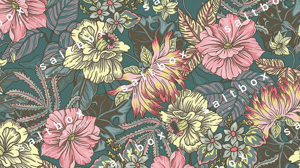 #FLO.121 - Pretty tapestry flower