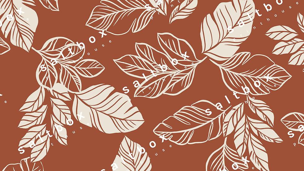 #FLO.150 - Retro Leaves