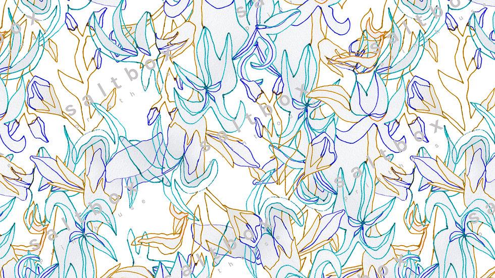 #FLO.017 - Line art botanical