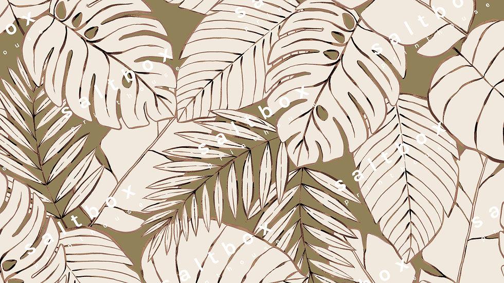 #FLO.149 - Vintage Tropical Leaves