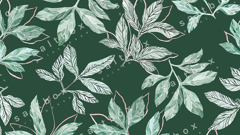#FLO.059 -Watercolour leaves