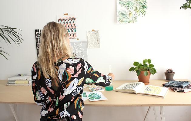 Textile Print Design Studio, Artwork & Illustration, Watercoloring