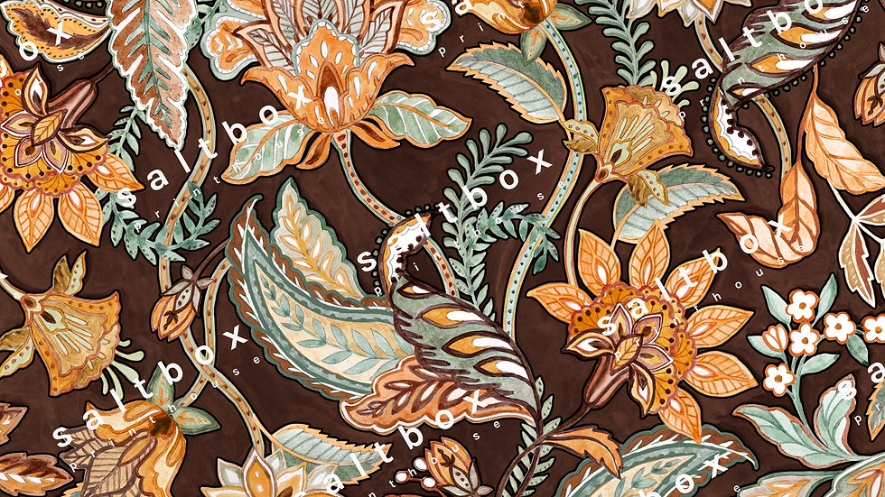 #FLO.155 - Indian Watercolour Floral