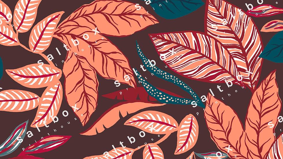 #FLO.127 - Tropical Fun Leaves