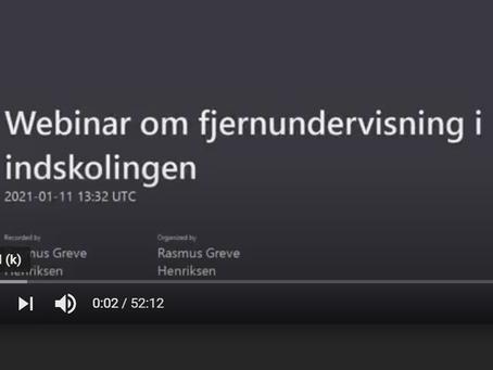 Webinar - Fjernundervisning i indskolingen