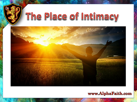 Place of Intimacy Cover