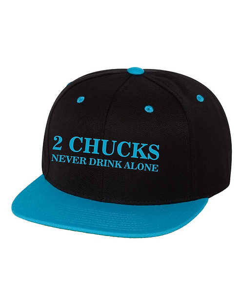 2Chucks Hat - Teal/Black