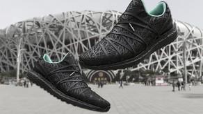 """adidas Ultra Boost inspirado no estádio olímpico """"Ninho do Pássaro""""."""