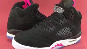 """Nike Air Jordan 5 Retro """"Deadly Pink"""" exclusivo para o público feminino e juvenil."""