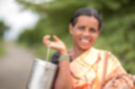 Happy face Indian village women portrait