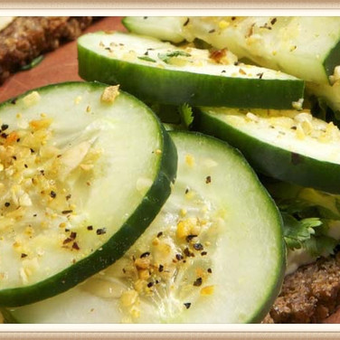 Cucumber Kale Open Face Sandwich