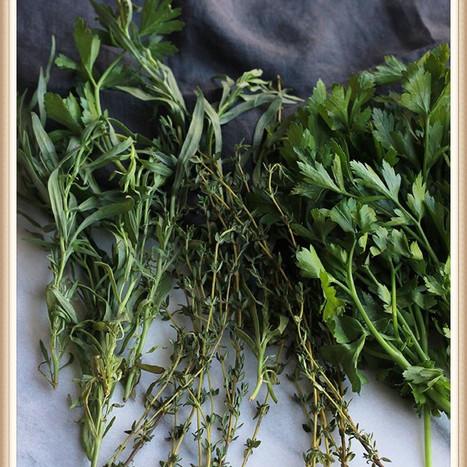 Fresh Herbs on Pasta