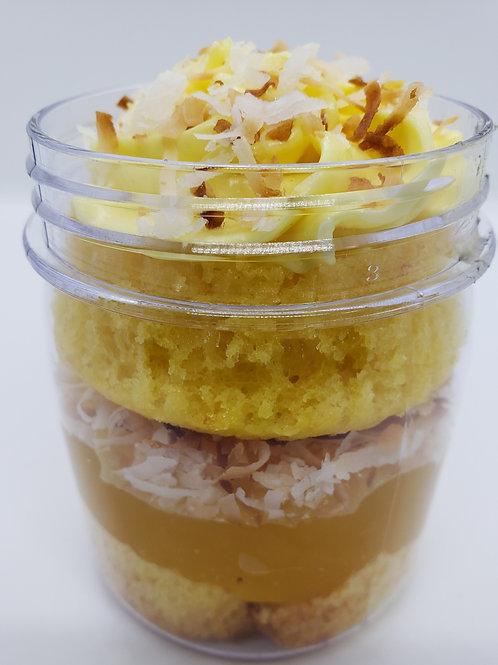 Lemon Coconut Cake Jars