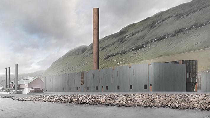 Frá útnyrðingi málað betong komp