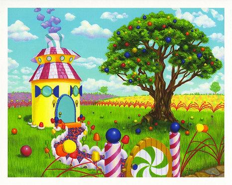 """Peppermint Cottage"" Giclée Print"