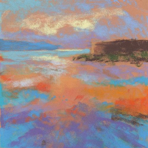 Sunrise Seascape Pastel Painting Study