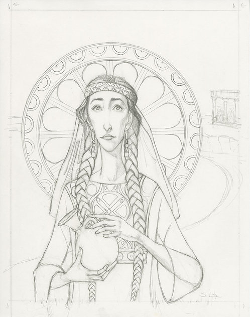 """The Widow of Zarephath"" Original Drawing"