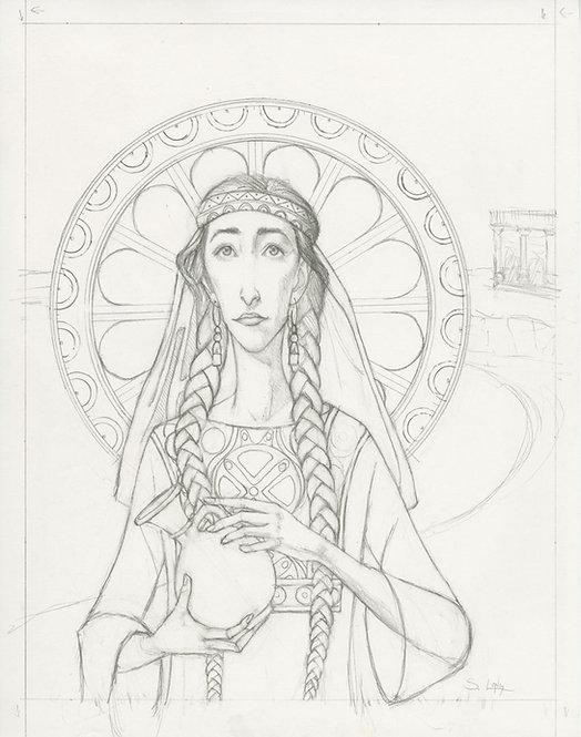 """The Widow of Zarephath"" Original Drawing by Samantha Long"
