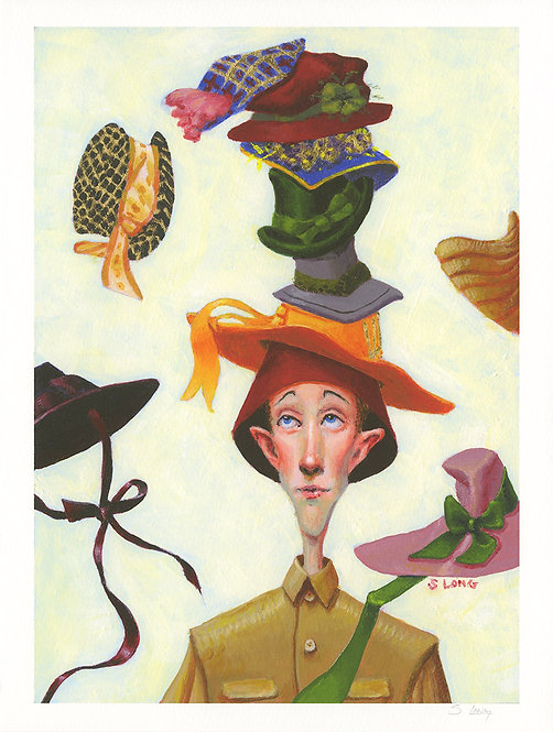 """""""Which Hat?"""" Giclée Print"""
