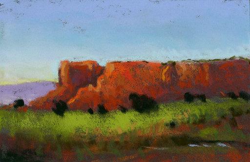 Orange Butte Pastel Painting Study