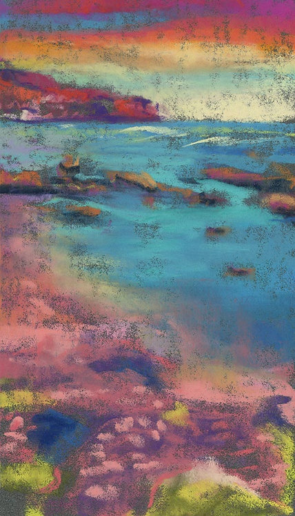 Whimsical Seascape Pastel Painting Study