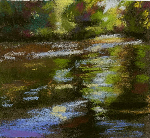 Reflection River Pastel Painting Study