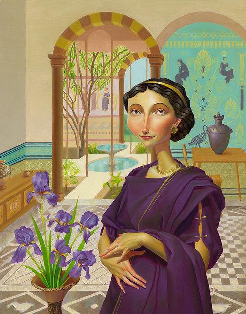 """Seller of Purple"" Original Oil Painting by Samantha Long"