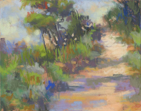 Lush Path Pastel Painting Study