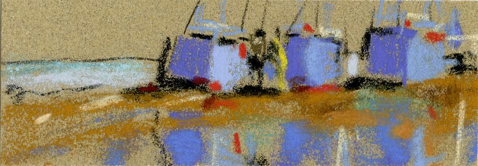 Ships Pastel Painting Study