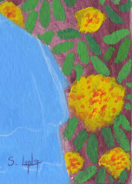 """Marigold Girl"" Detail"