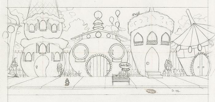 """Sweet Street"" Original Drawing by Samantha Long"