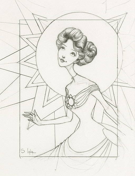 """""""Sunshine in the Soul"""" Original Line Drawing by Samantha Long"""