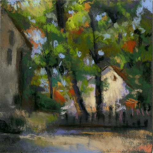 Houses & Trees Pastel Painting Study