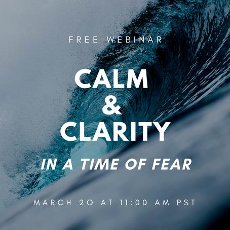 Calm & Clarity Webinar