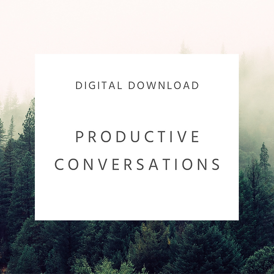 Productive Conversations