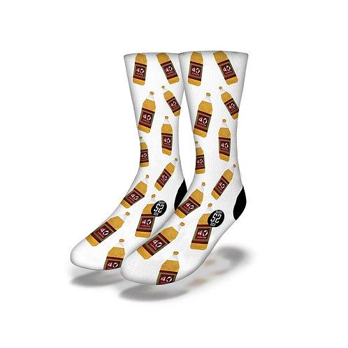 3D 40'S Socks White