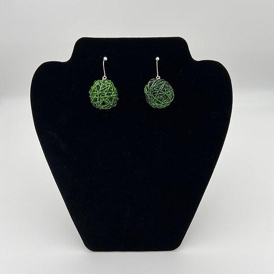 Green Color Play Earrings