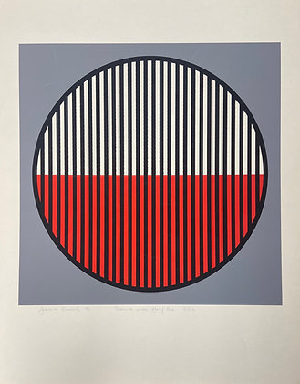 Round With Half Red by Harold Krisel